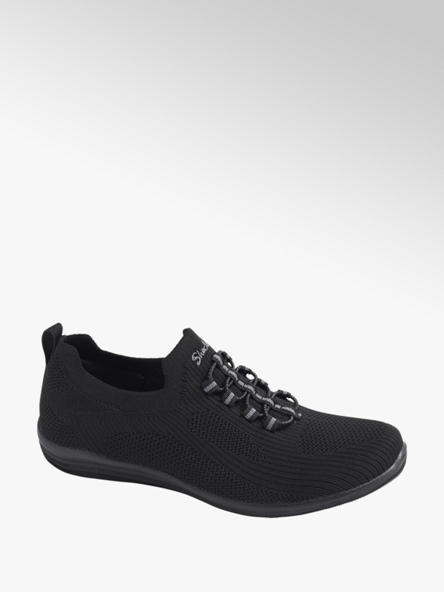 Skechers czarne sneakersy damskie Skechers z wkładką memory foam