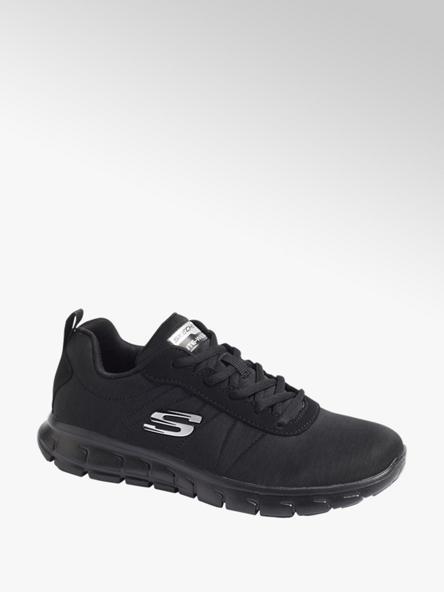 Skechers czarne sneakersy damskie Skechers ze srebrnym logo