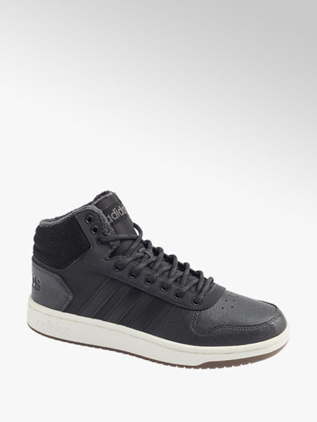 adidas czarne sneakersy męskie adidas Hoops 2.0 MID