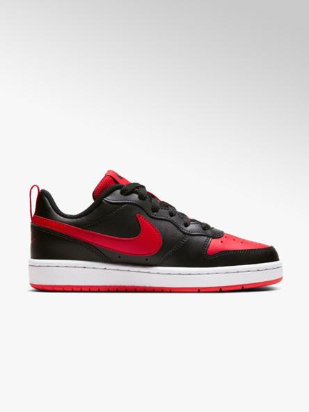NIKE czarno-czerwone sneakersy chłopięce Nike COURT BOROUGH 2