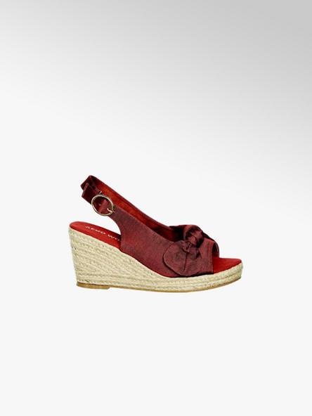 Vero Moda czerwone sandały damskie Vero Moda na koturnie