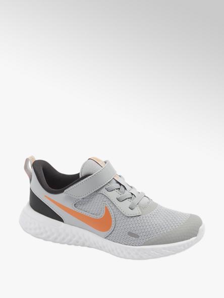 NIKE Šedé dětské tenisky na suchý zip Nike Revolution 5