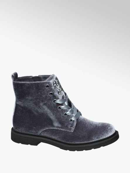 Graceland Šedá šněrovací obuv Graceland se zipem