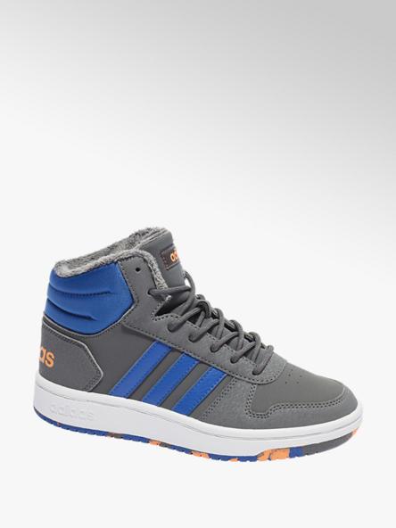 adidas Šedo-modré kotníkové tenisky Adidas Hoops Mid 2.0