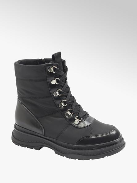 Catwalk Černá šněrovací obuv se zipem Catwalk