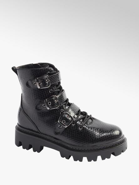 Vero Moda Černá šněrovací obuv se zipem Vero Moda