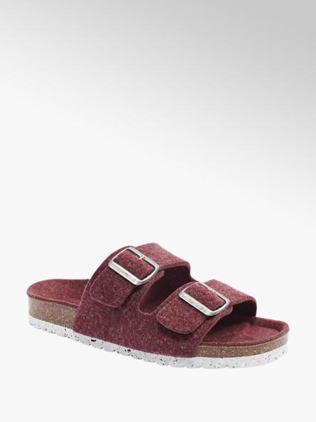 Vero Moda Červené pantofle Vero Moda