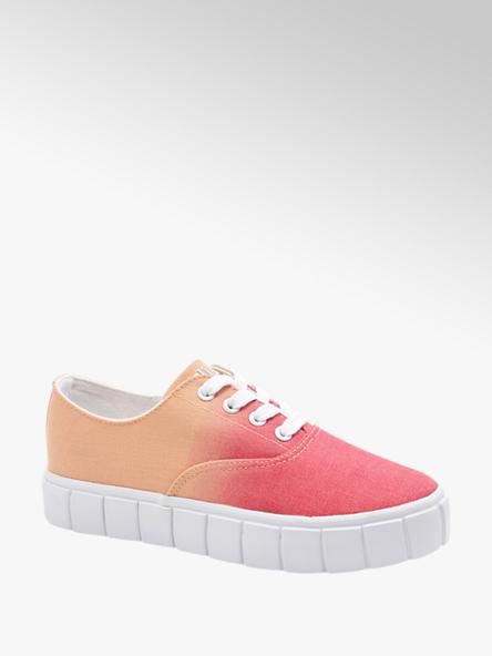 Fila Červeno-oranžové plátenné tenisky Fila