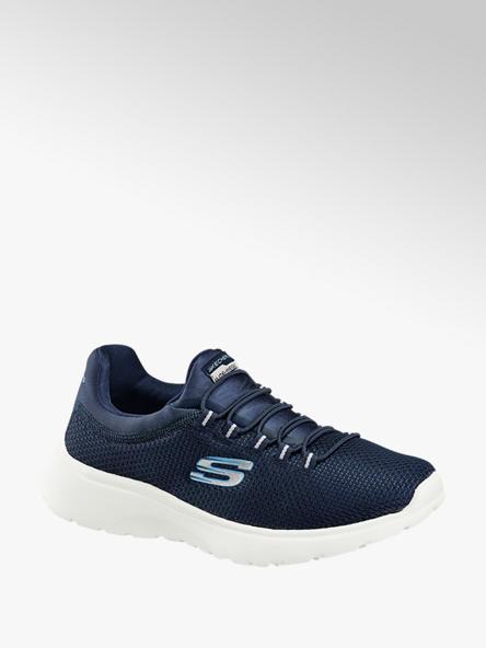 Skechers granatowe sneakersy damskie Skechers na białej podeszwie