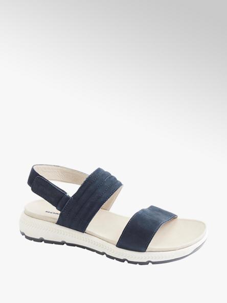 Romika granatowo-białe skórzane sandały damskie Romika