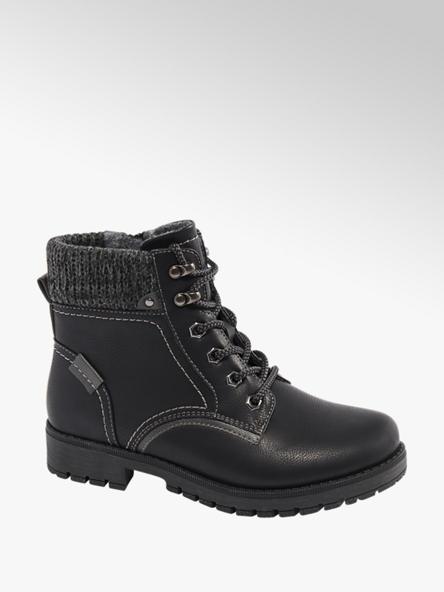 Easy Street Čierna komfortná šnurovacia obuv so zipsom Easy Street
