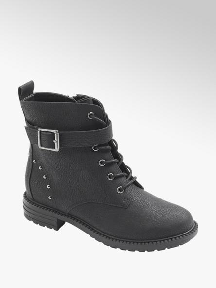 Graceland Čierna členková obuv na šnurovanie Graceland