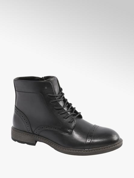 Memphis One Čierna členková obuv so zipsom Memphis One