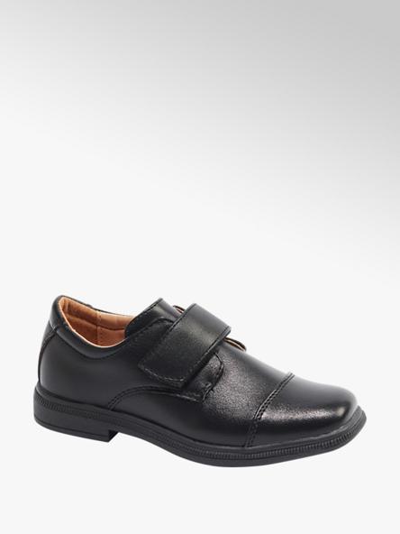 Bobbi-Shoes Čierne chlapčenské poltopánky na suchý zips Bobbi-Shoes
