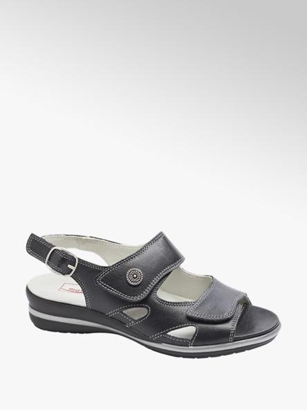 Medicus Čierne kožené komfortné sandále Medicus