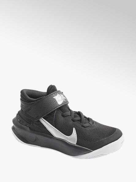 NIKE Čierne členkové tenisky na suchý zips Nike Team Hustle