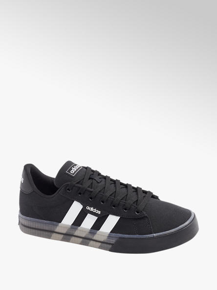 adidas Čierne plátenné tenisky Adidas Daily 3.0