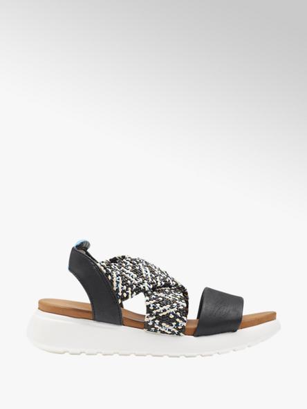 Graceland Čierne sandále na platforme Graceland