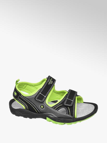 Vty Čierne sandále na suchý zips Vty
