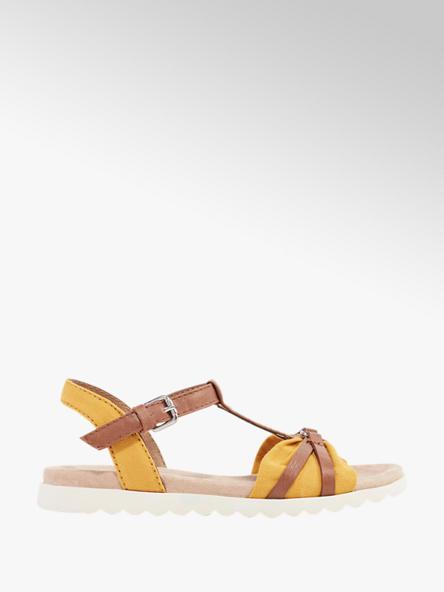 Tom Tailor Žlté sandále Tom Tailor