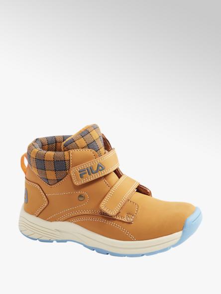 Fila Žlto-hnedá členková obuv na suchý zips Fila