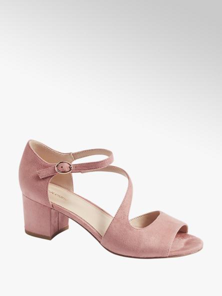 Graceland różowe sandałki damskie Graceland z paseczkiem