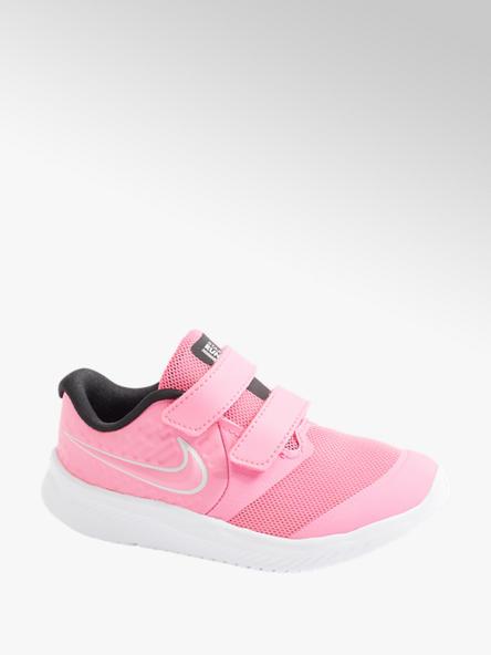 NIKE różowe sneakersy dziewczęce Nike Star Runner 2 zapinane na rzepy