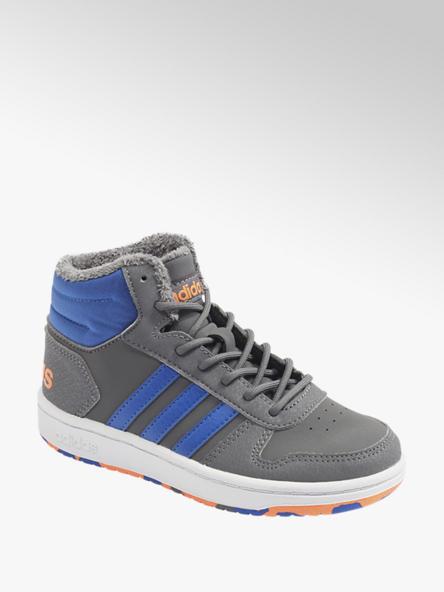 adidas szaro-niebieskie ocieplane sneakersy chłopięce adidas