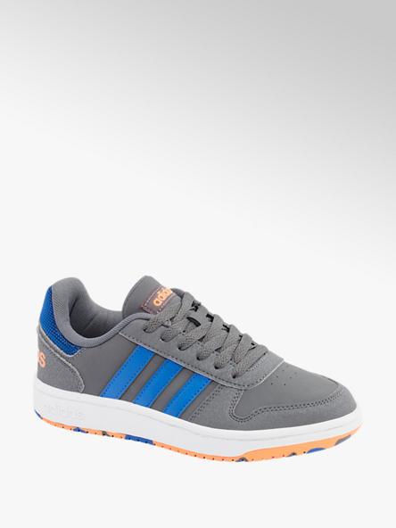 adidas szaro-niebieskie sneakersy chłopięce adidas Hoops 2.0