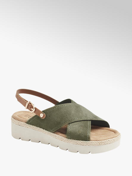 Esprit zielone sandały damskie Esprit na platformie