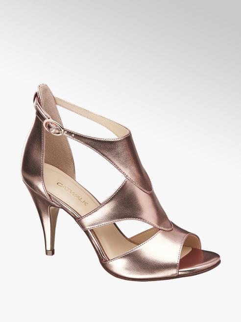 Catwalk Party Sandaletten im Metallic-Design