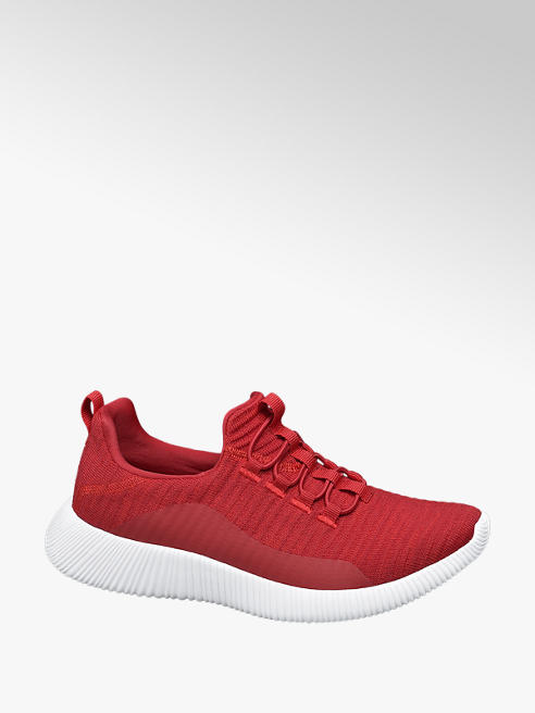 Rode knitted sneaker