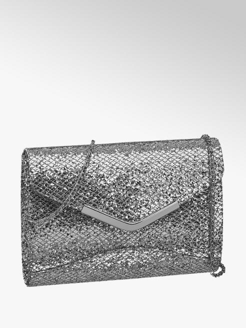 Zilveren glitter schoudertas