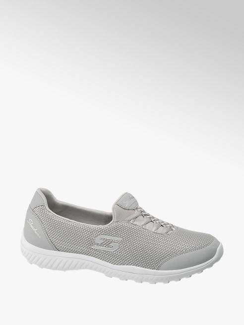 Skechers Ladies Skechers Grey Slip-on Trainers