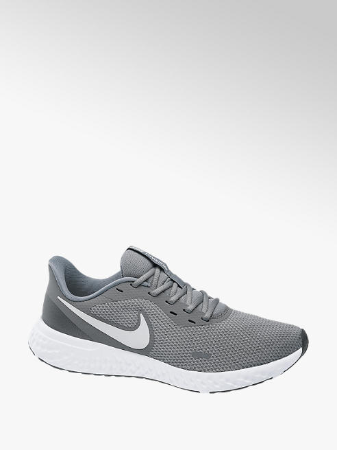 NIKE Mens Nike Revolution 5 Grey Lace-up Trainers