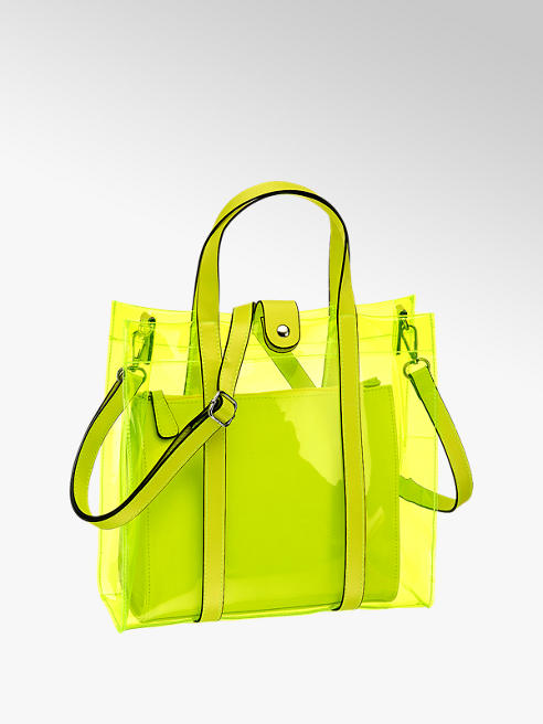 Catwalk Neon Yellow Tote Handbag