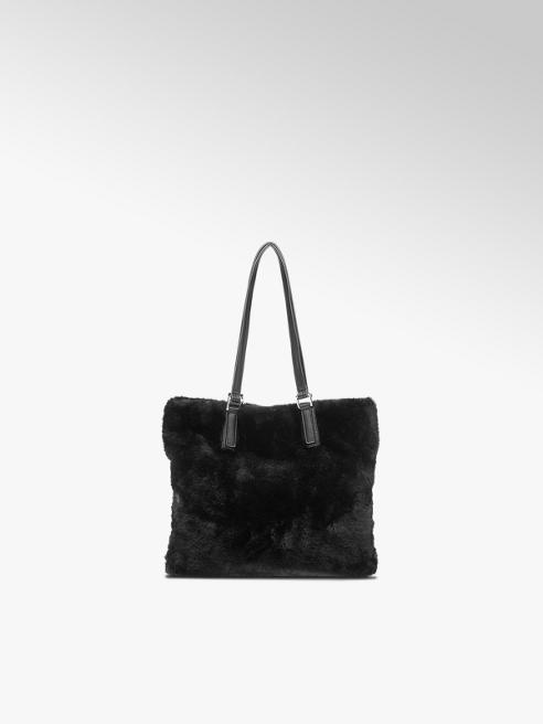 Graceland Black Faux Fur Shoulder Bag