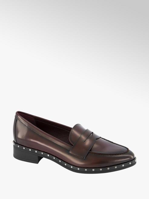 Graceland Bordeaux loafer studs