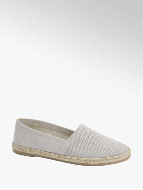 5th Avenue Grijze suede loafer espadrillezool