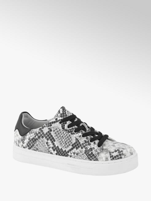 Graceland Grijze sneaker slangenprint