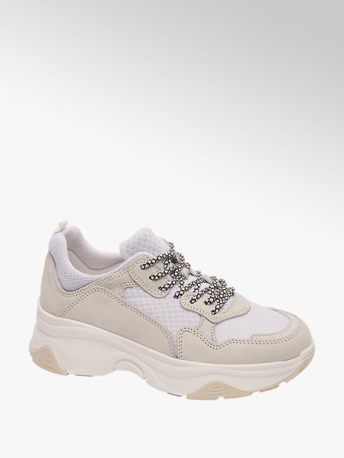 5th Avenue Witte leren dad sneaker