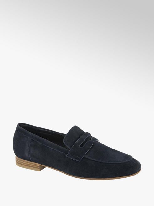 5th Avenue Donkerblauwe suède loafer