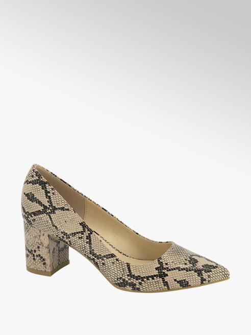 Graceland Beige pump slangenprint