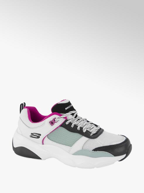 Skechers Witte leren chunky sneaker
