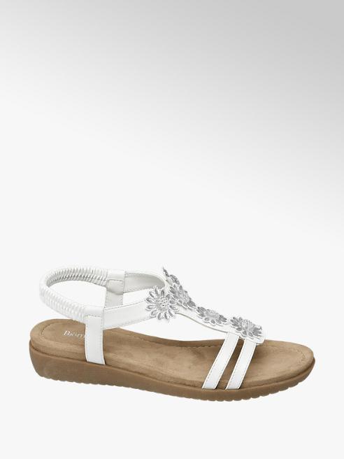 Björndal Witte sandaal bloemen