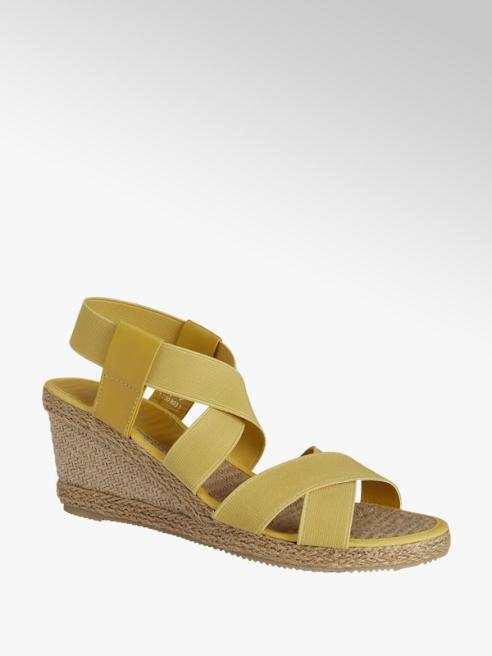 Graceland Gele sandalette elastiek