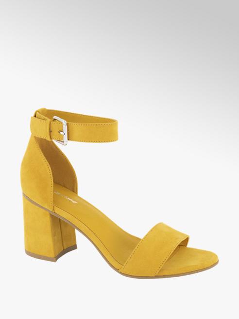 Graceland Oker gele sandalette gespsluiting