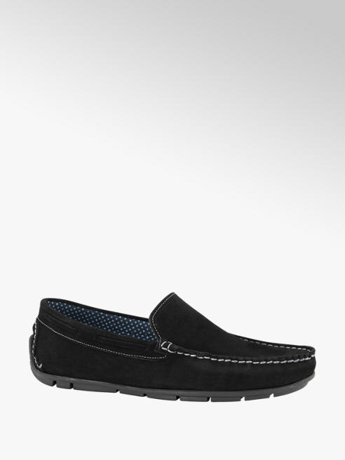 AM shoe Zwarte suède loafer