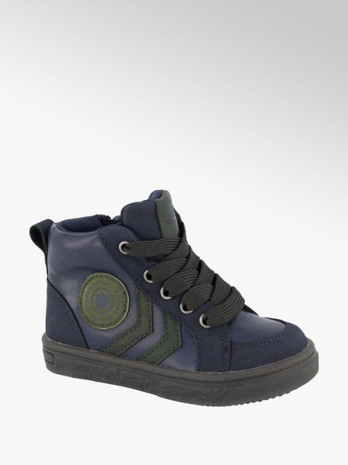 Bobbi-Shoes Donkerblauwe halfhoge sneaker