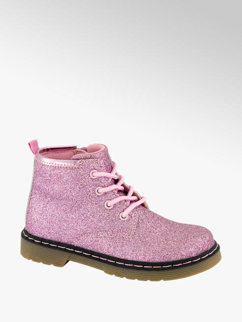 Cupcake Couture Roze veterbootie glitter